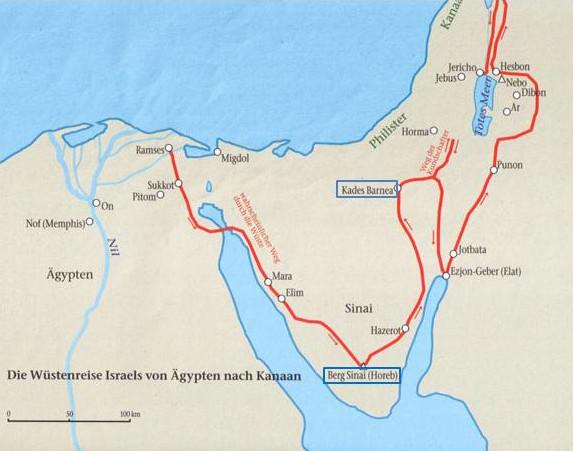 Karte zur Wüstenwanderung